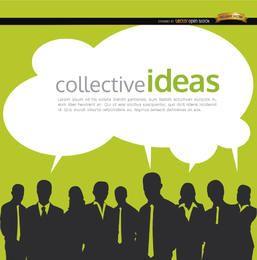 Fondo de ideas colectivas de personas de negocios