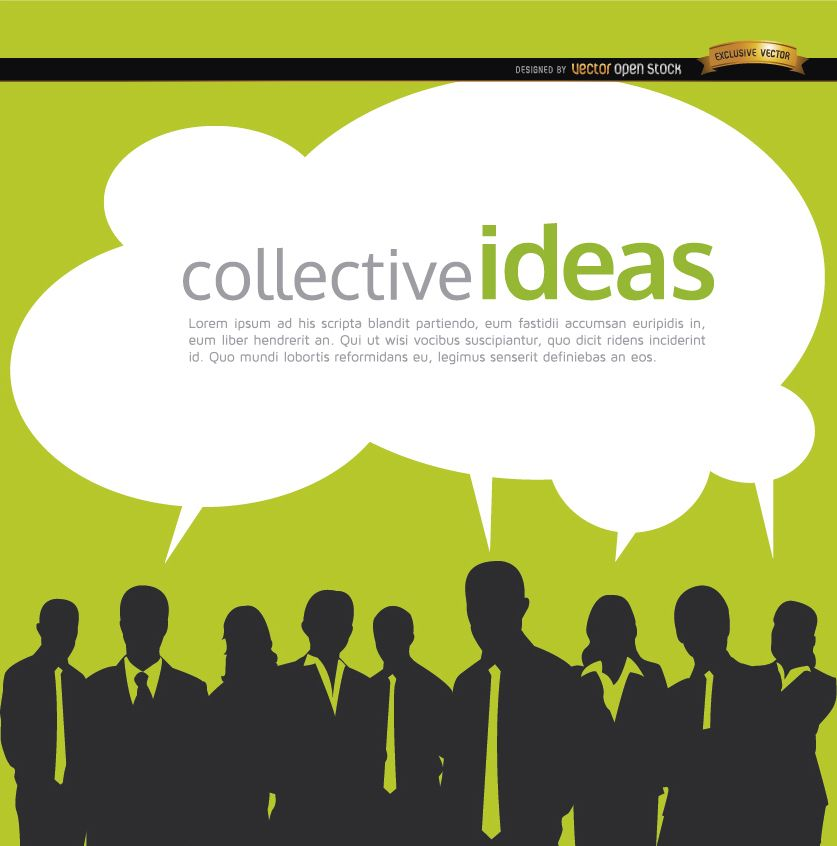 Business people collective ideas background