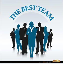 Equipe de negócios em segundo plano