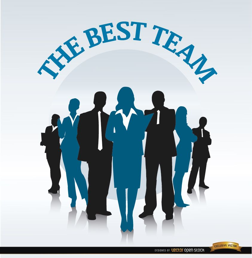 Business team in row background - Vector download