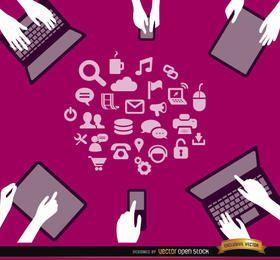 Interacción de dispositivos informáticos