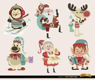 6 Christmas cartoon characters
