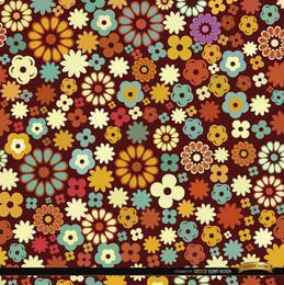 Muitos padrão de flores coloridas