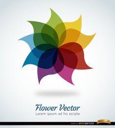 Diseño de flores arcoiris