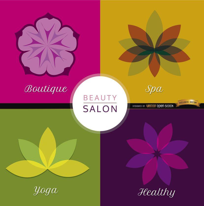 4 Beauty flowers backgrounds