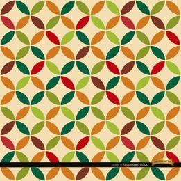 Folha, círculos, padrão, fundo