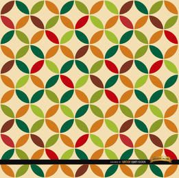 Leaf circles pattern background