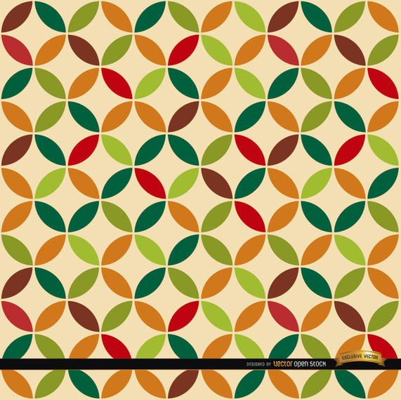 Leaf circles pattern background