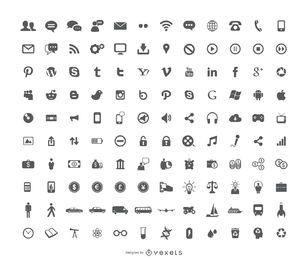 120 novos ícones gratuitos