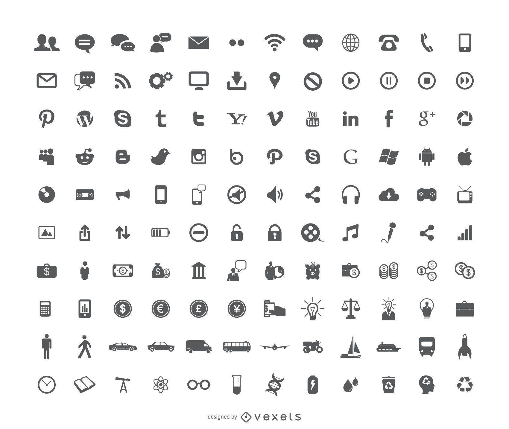 120 novos ícones grátis