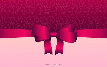 Tarjeta de Navidad elegante rosáceo brillante