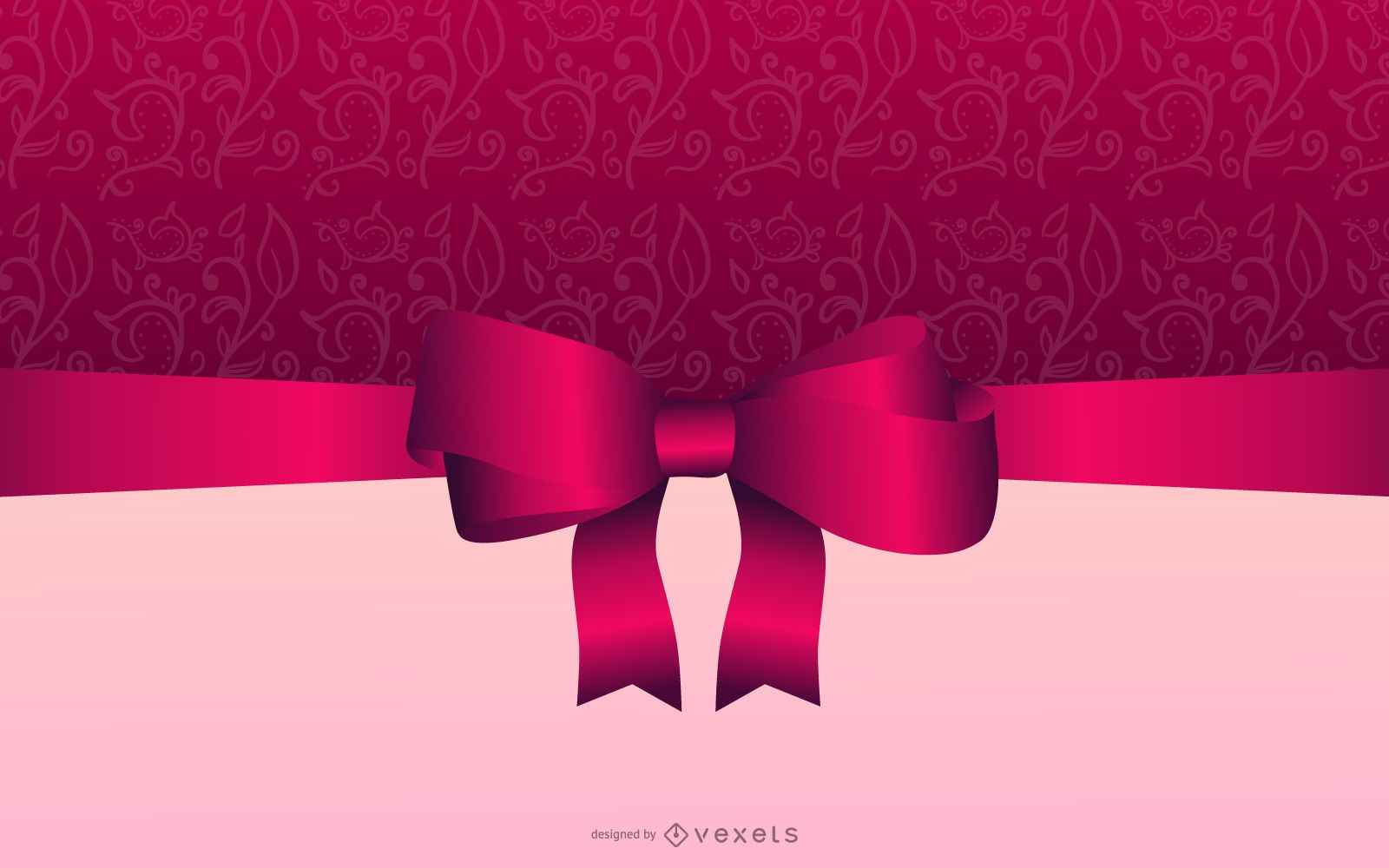 Tarjeta de Navidad elegante rosado brillante