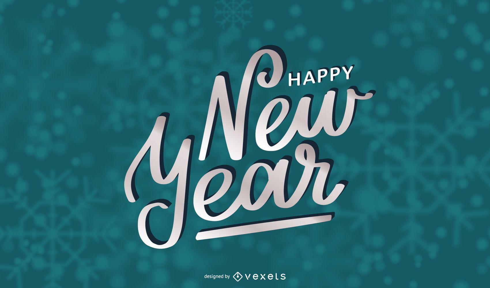 Beautiful New Year Typography