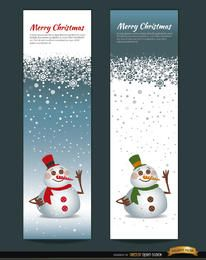 2 marcadores verticais de boneco de neve de Natal