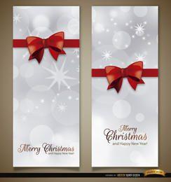 2 Weihnachts-Vertikal-Bandbogen-Lesezeichen