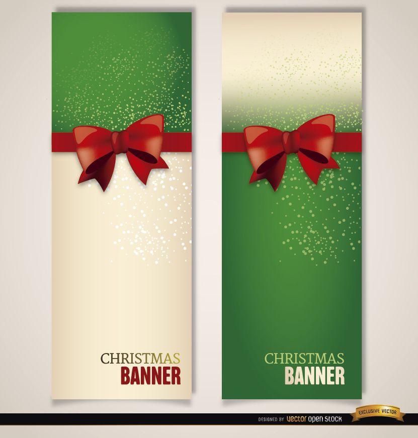 Christmas bookmarks ribbon bow