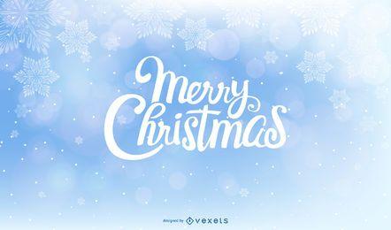 Fundo de Natal com bolhas brilhantes e flocos de neve