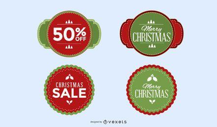 Paquete de elementos promocionales de Navidad