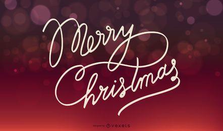 Fundo de Natal vermelho de luzes brilhantes Bokeh