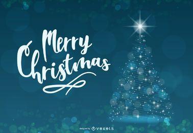 Abstrakter glänzender blauer kreativer Weihnachtsbaum