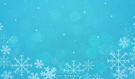 Fundo de Natal sazonal com flocos de neve