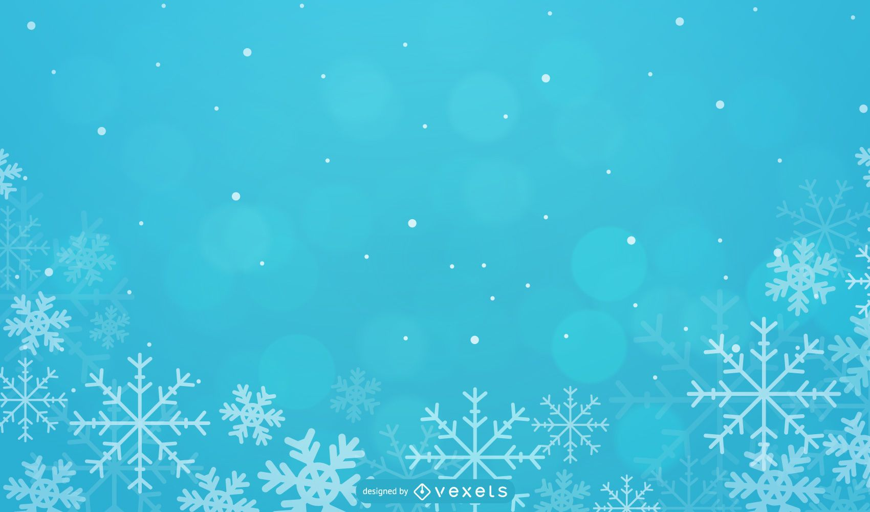 Seasonal Xmas Background with Snowflakes