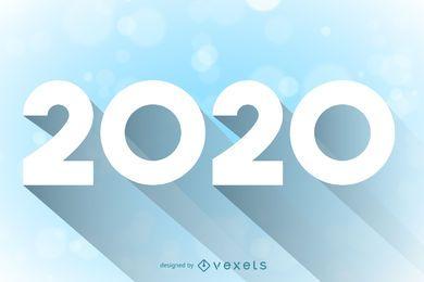 2020 lange beschattete minimale Typografie