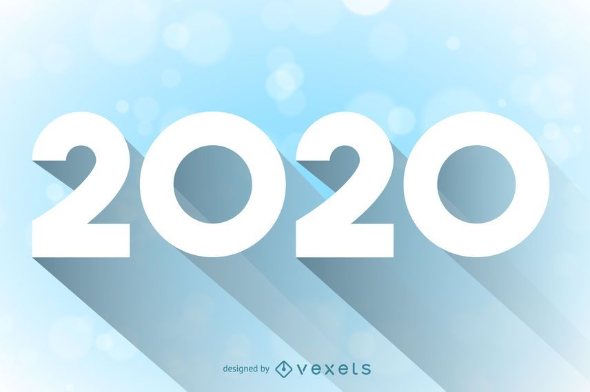 Tipografia Mínima Longa Sombreada de 2020