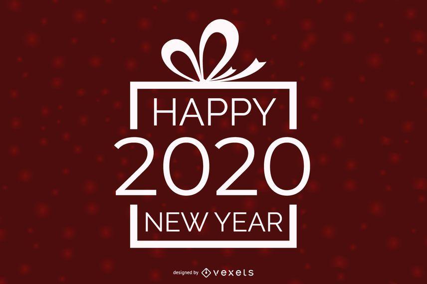 New Year Greetings inside Xmas Gift Box