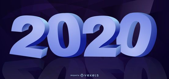 Tipografia 3D Ano Novo 2020