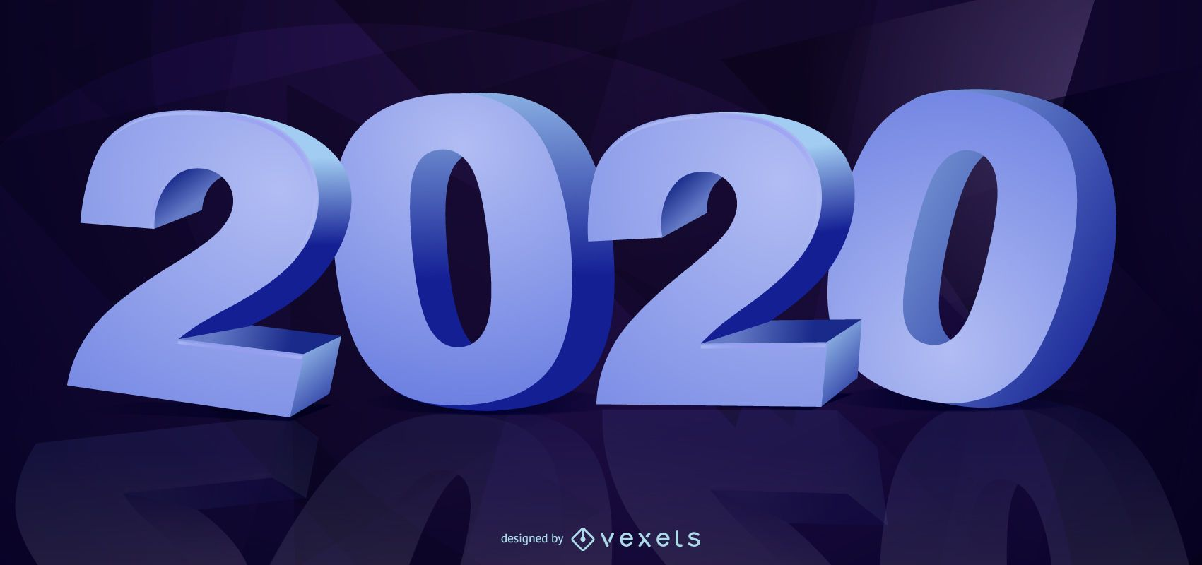 3D New Year 2020 Typography
