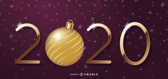 Typografie des Weihnachtsball-neuen Jahres 2020