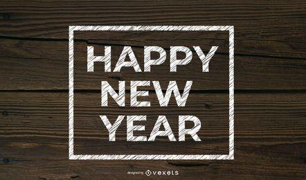 Tipografia texturizada de grão de ano novo