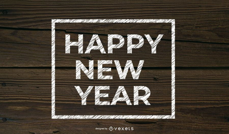 Año nuevo tipografía simple