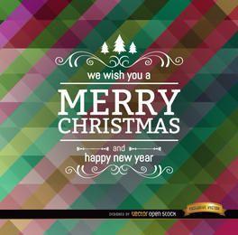 Barras oblíquas de polígono colorido de Natal