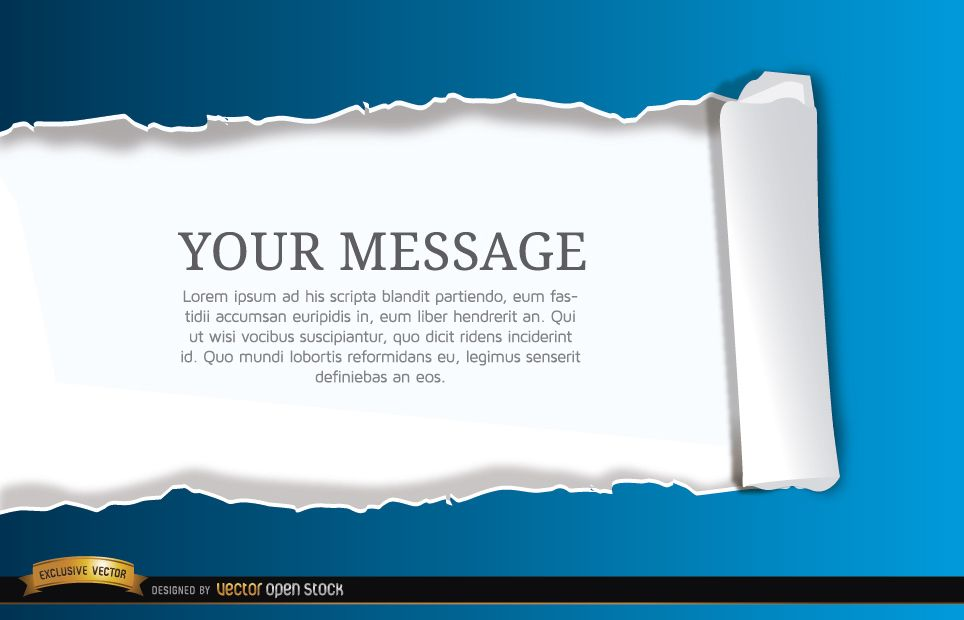Torn horizontal scroll paper background