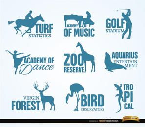 Recreation and animal logos
