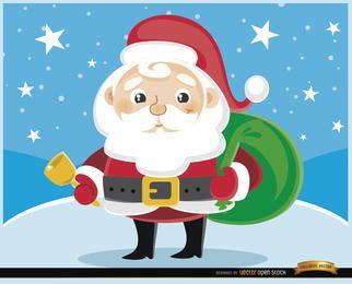 Cartoon Weihnachtsmann Cowbell