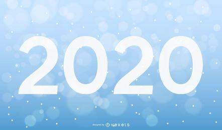 Tipografía de año nuevo blanco con sombras largas con símbolos