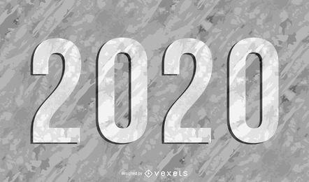 Grungy strukturiertes 2015 auf grauem Hintergrund