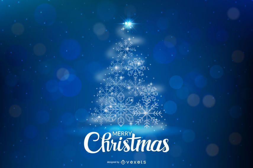 Sombra de espiral creativa formada árbol de Navidad