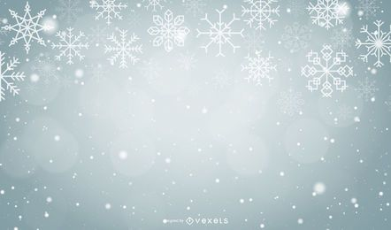 Christmas Snowflakes Grey Background