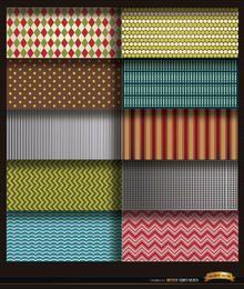 10 líneas y patrones de formas.