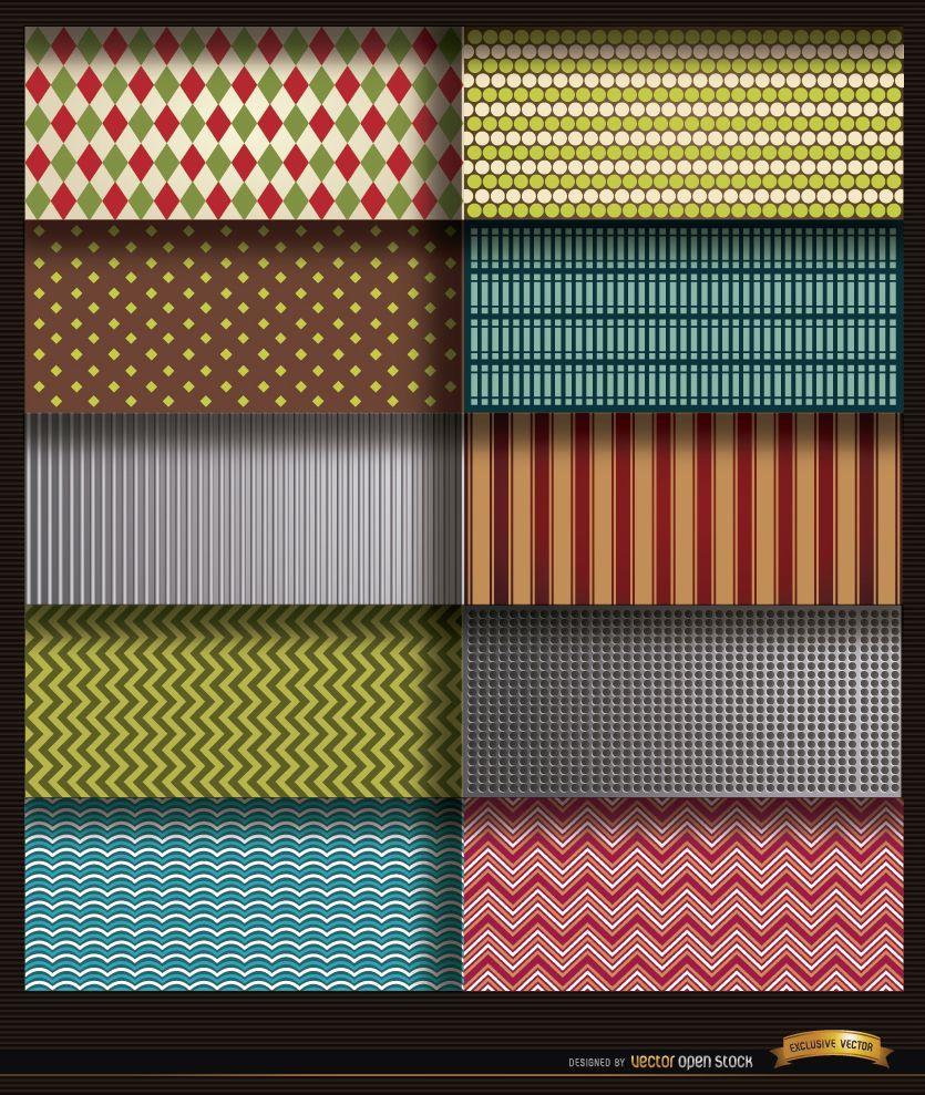 10 patrones de líneas y formas