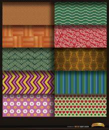 10 psychedelische Muster