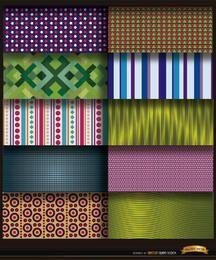 10 abstrakte Musterhintergründe