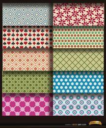 10 padrões de círculos de flores Rhombs