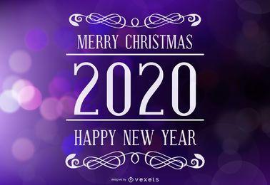 Frohe Feiertage, die 2020 beschriften
