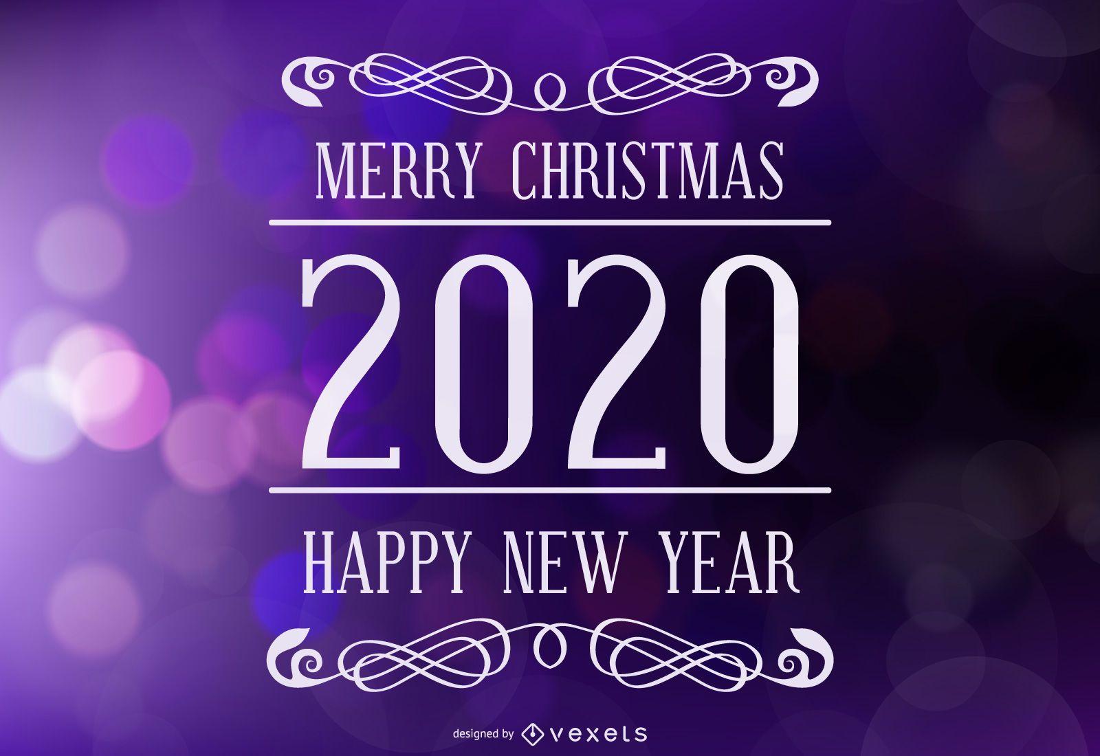 Felices fiestas letras 2020