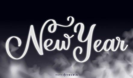 Hintergrund der rauchigen Typografie-neuen Jahres 2015